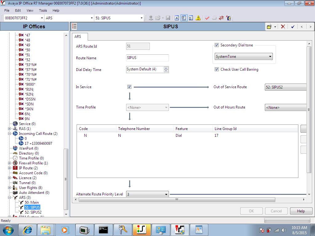 SIP US Trunk via IP Authentication on Avaya IP Office